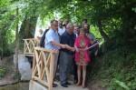 Depuis la mi-juillet, un nouveau pont en bois permet de traverser la Saâne à Bourdainville