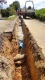 Travaux de renforcement du réseau d'eau potable rue des Acacias à Yerville