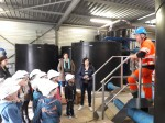 Visite de l'école d'Ancretieville Saint Victor de l'usine de micro-filtration de Bourdainville et de la station d'épuration de Yerville-Bourdainville.