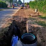 Les travaux d'extension du réseau d'assainissement collectif et de renouvellement de la conduite d'eau potable à Hugleville en Caux ont débuté