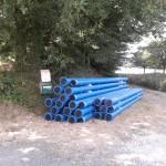 Travaux de renouvellement de la canalisation d'eau potable à Vibeuf