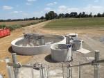 La nouvelle station d'épuration d'Hugleville en Caux / Saint Ouen du Breuil prend forme