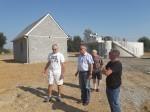 Visite des chantiers de la station d'épuration d'Hugleville en Caux / Saint Ouen du Breuil et des réseaux à Hugleville en Caux.